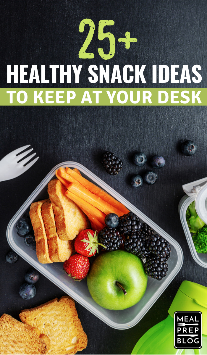 Healthy Snack Ideas To Store At Your Desk, Good Snack Ideas for Work #snack #snacks #snackideas #eatinghealthy #mealprep